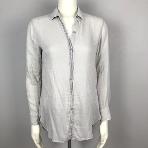 cloth and stone Gray Button Up Blouse Small